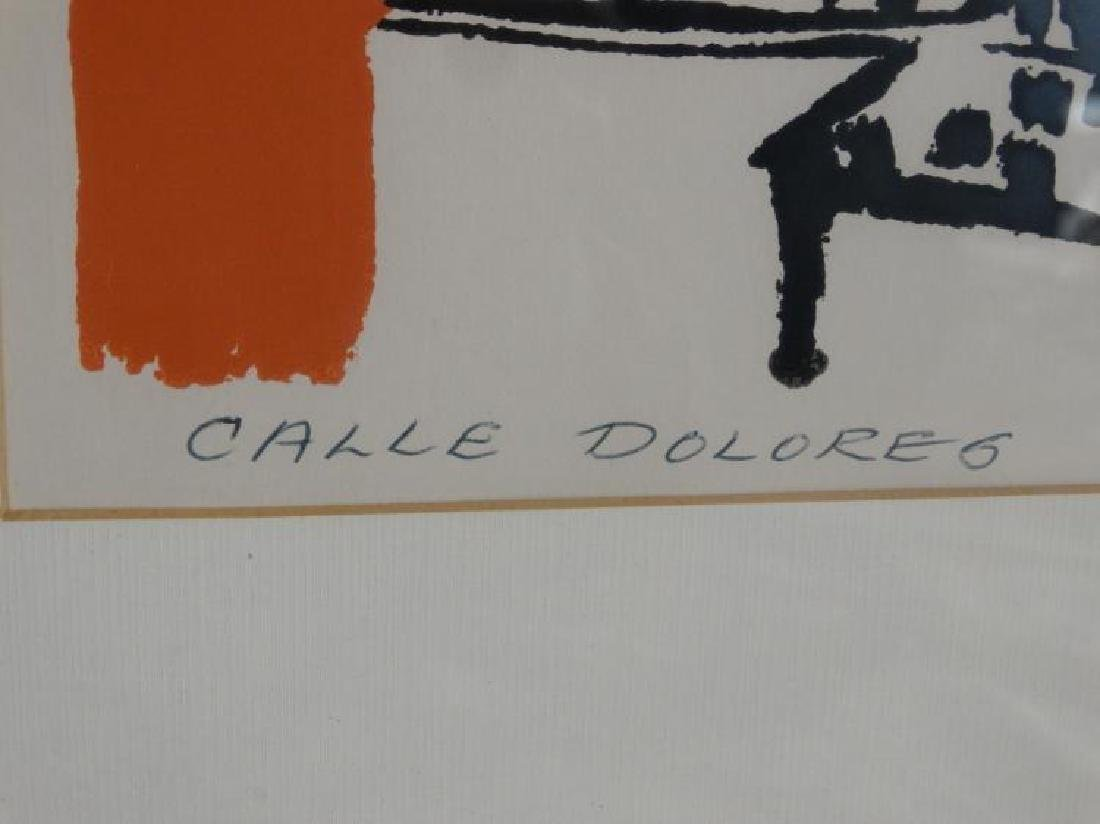 """Signed Litho Titled """"Calle Dolores"""" Merlin Dow - 4"""