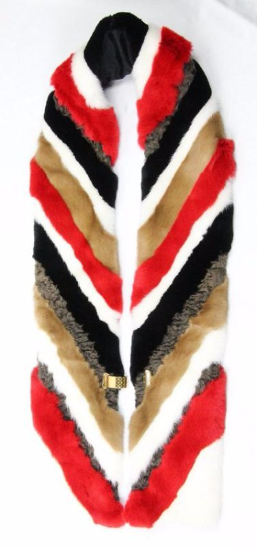 Louis Vuitton Fur Scarf W/18KP Clasp (1 of 5)