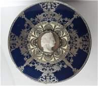 Karl Faberge 84 Silver Box WEnamel  Cameo
