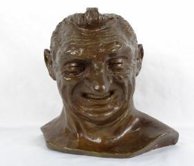 Isabella Howland Signed Bronze Bust Sculpture