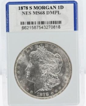 1878-S Morgan Silver Dollar MS68 DMPL NES 10%BP