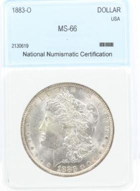 1883-O Morgan Silver Dollar MS66 NNC Slab 10% BP