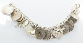 """Vintage Sterling Silver 7"""" (23) Charm Bracelet"""