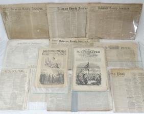 (12) Rare Civil War Era Newspaper Articles