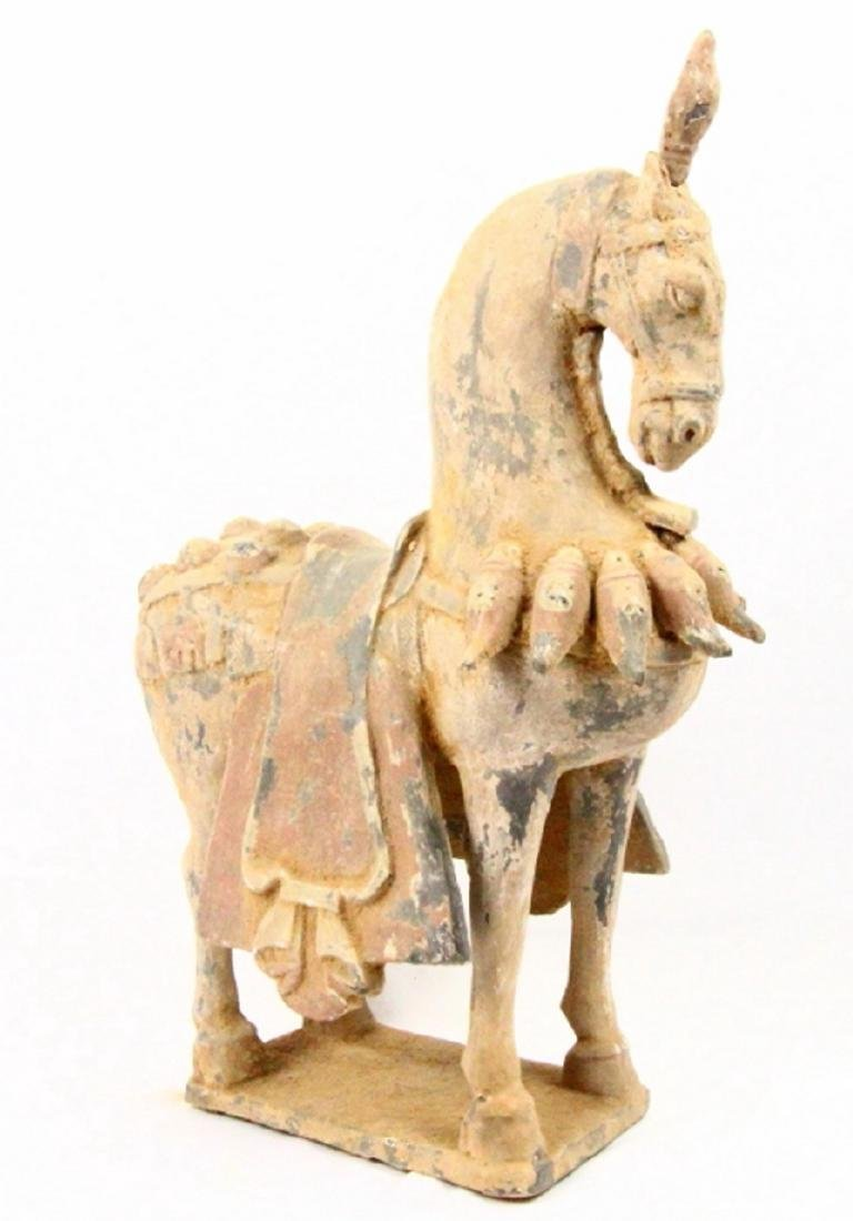 """Chinese Sui Dynasty Terracotta 20"""" Burial Horse"""
