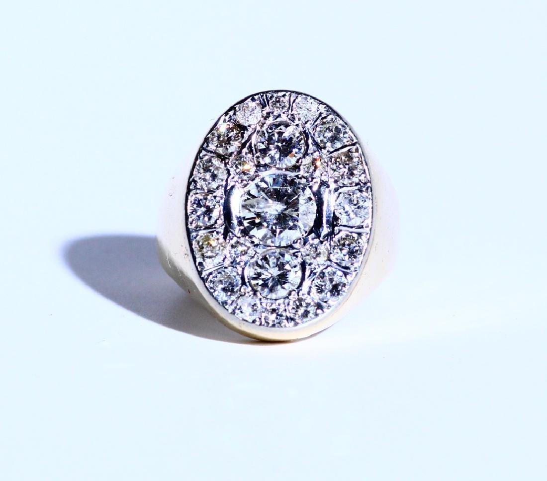 Elvis Presley's 4.50ctw Diamond & 14K Gold Ring
