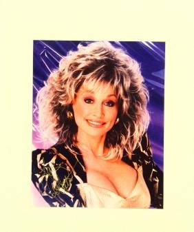 """Dolly Parton Autographed Matted 8""""x10"""" Photograph"""