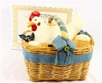 George Jones Wooden Basket Decoration W/COA
