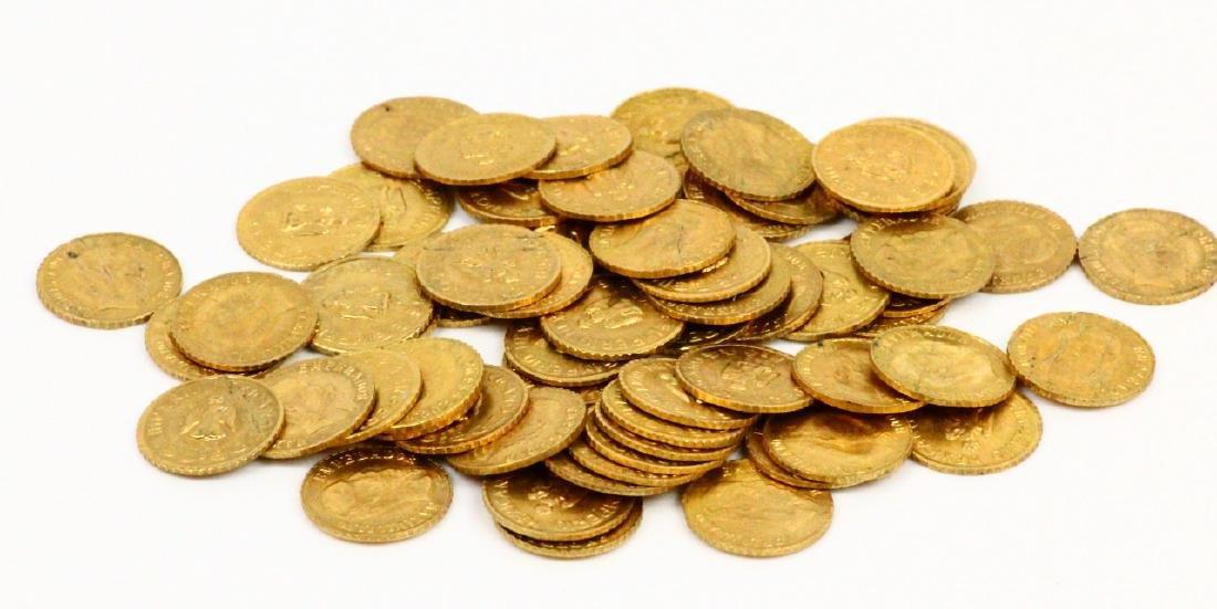 (65) Solid 87% Gold Maximiliano Emperador Coins