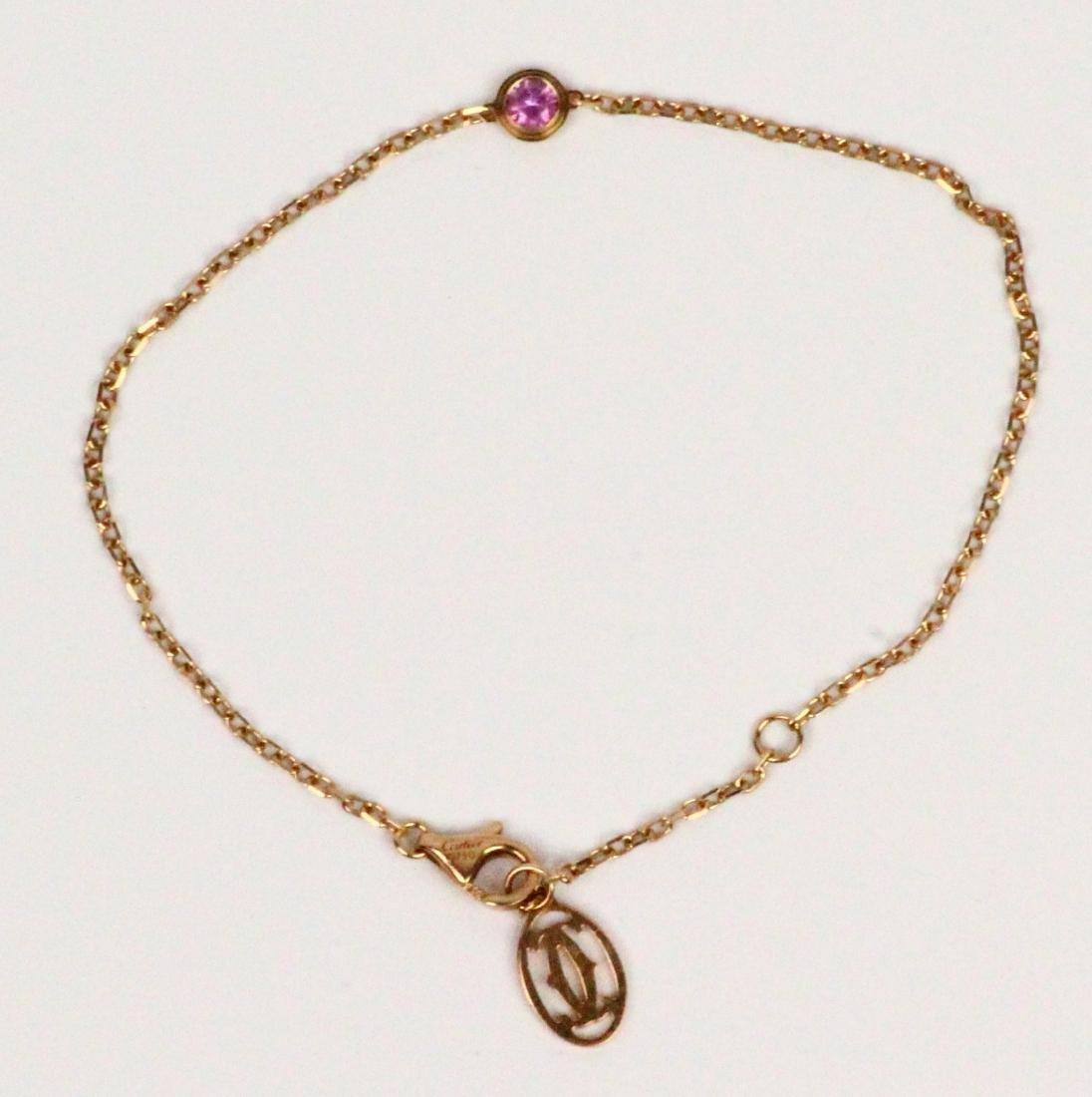 Cartier 18K Pink Gold & Pink Sapphire Bracelet
