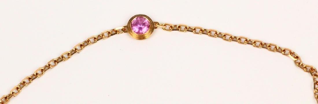 Cartier 18K Pink Gold & Pink Sapphire Bracelet - 3