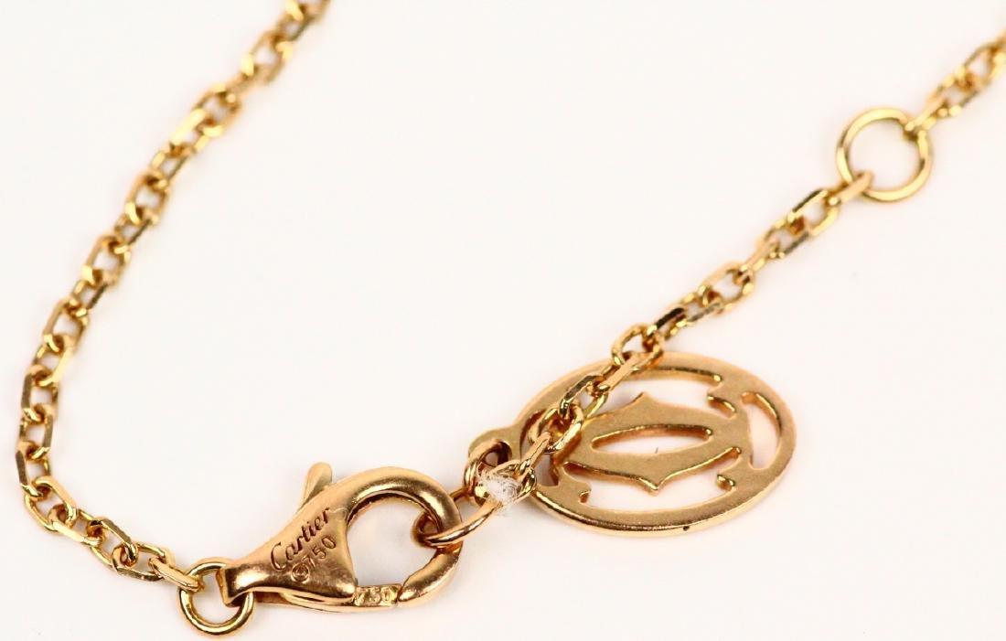 Cartier 18K Pink Gold & Pink Sapphire Bracelet - 4