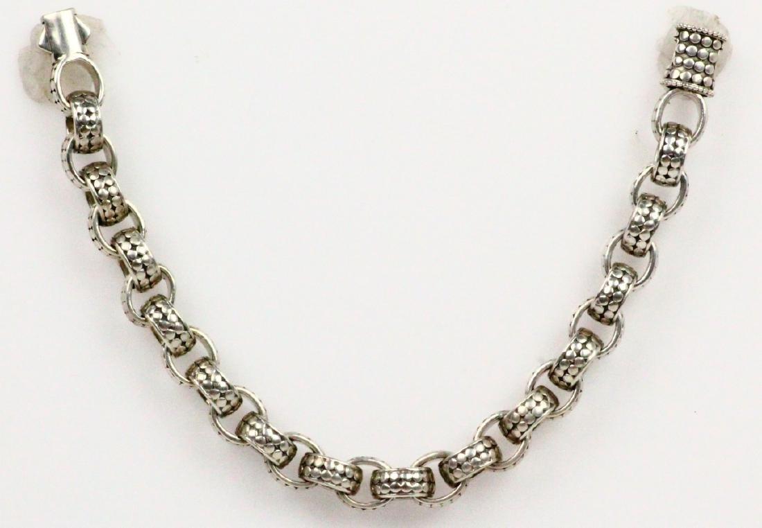 """John Hardy Sterling Silver 9"""" Dot Link Bracelet"""