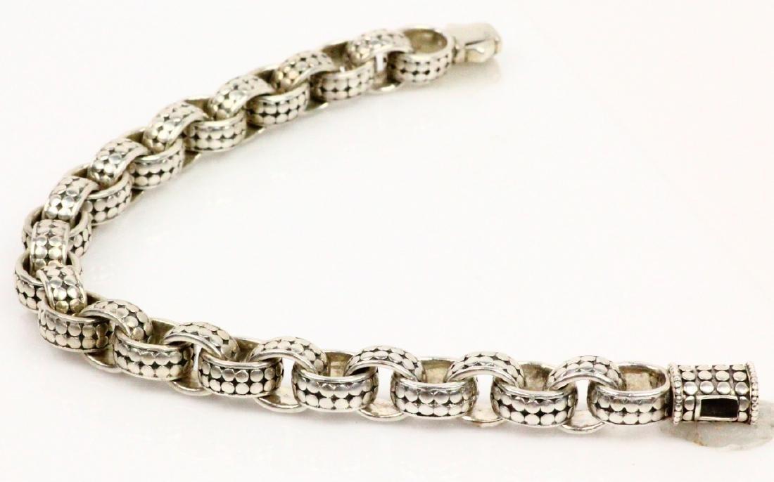 """John Hardy Sterling Silver 9"""" Dot Link Bracelet - 3"""