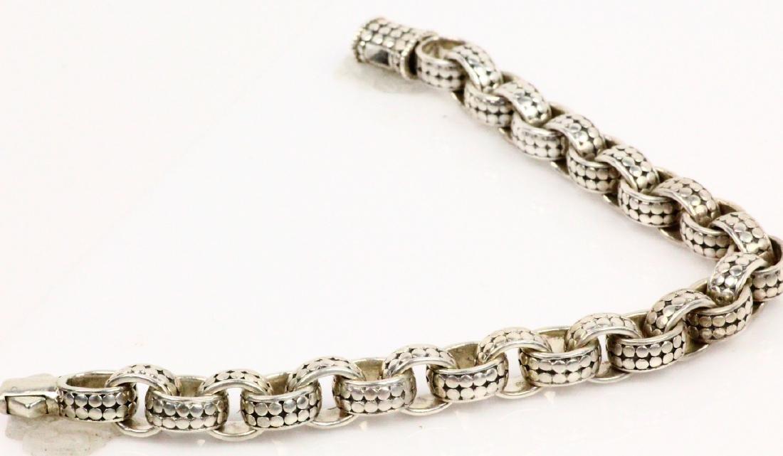 """John Hardy Sterling Silver 9"""" Dot Link Bracelet - 4"""