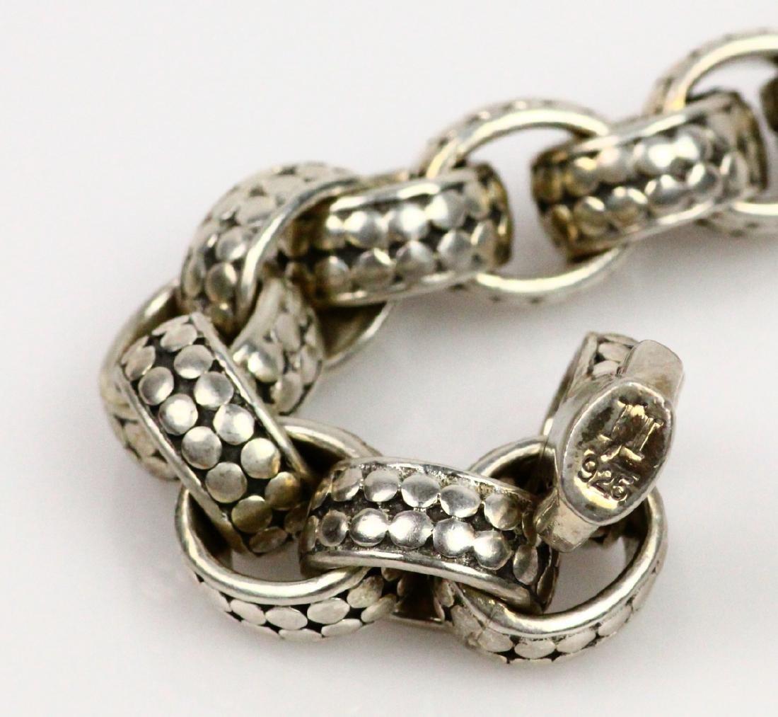 """John Hardy Sterling Silver 9"""" Dot Link Bracelet - 5"""