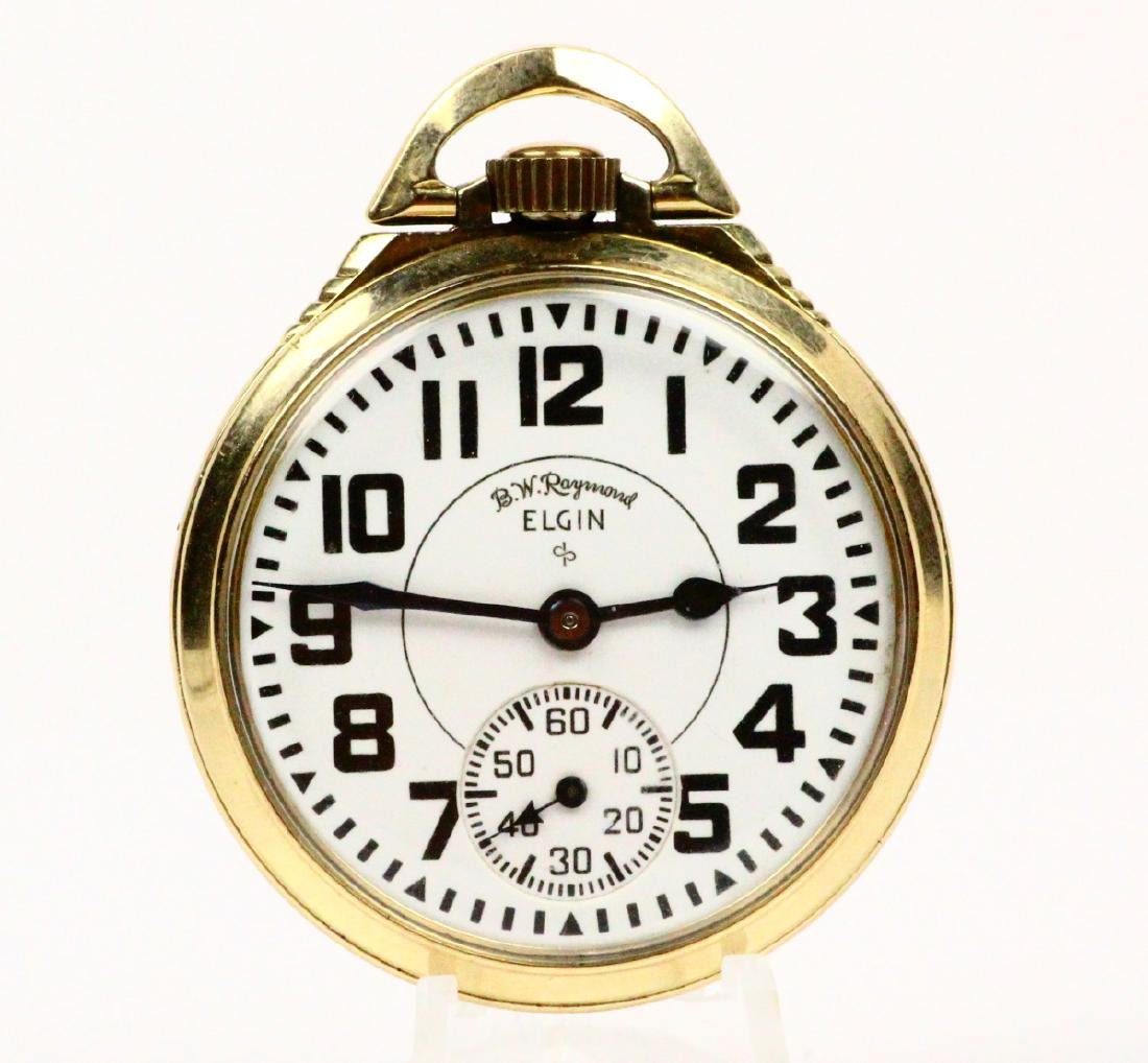 1951 Elgin B.W. Raymond Open Face 21J Pocketwatch