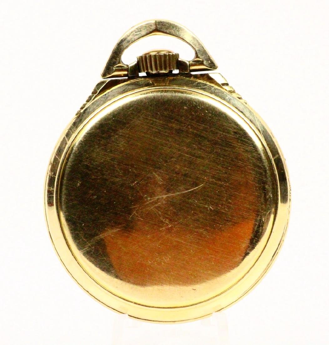 1951 Elgin B.W. Raymond Open Face 21J Pocketwatch - 3