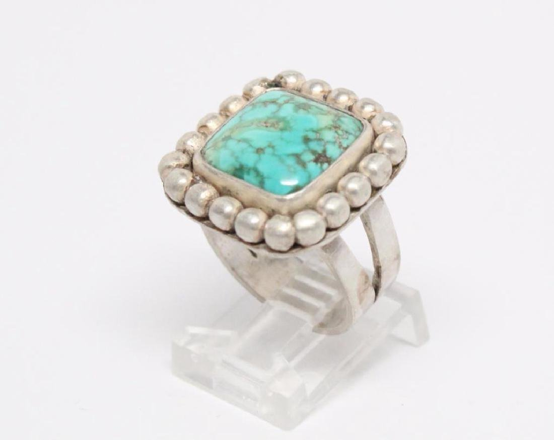 Native American Turquoise & Sterling Silver Ring