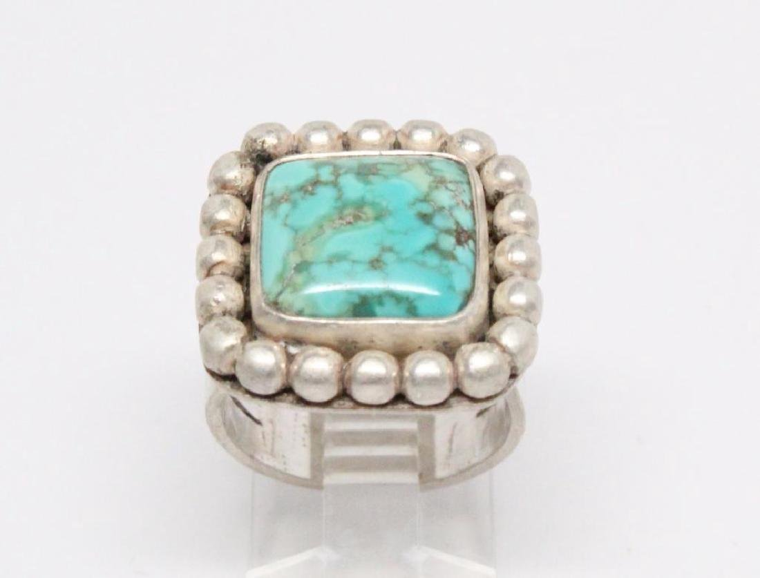 Native American Turquoise & Sterling Silver Ring - 2