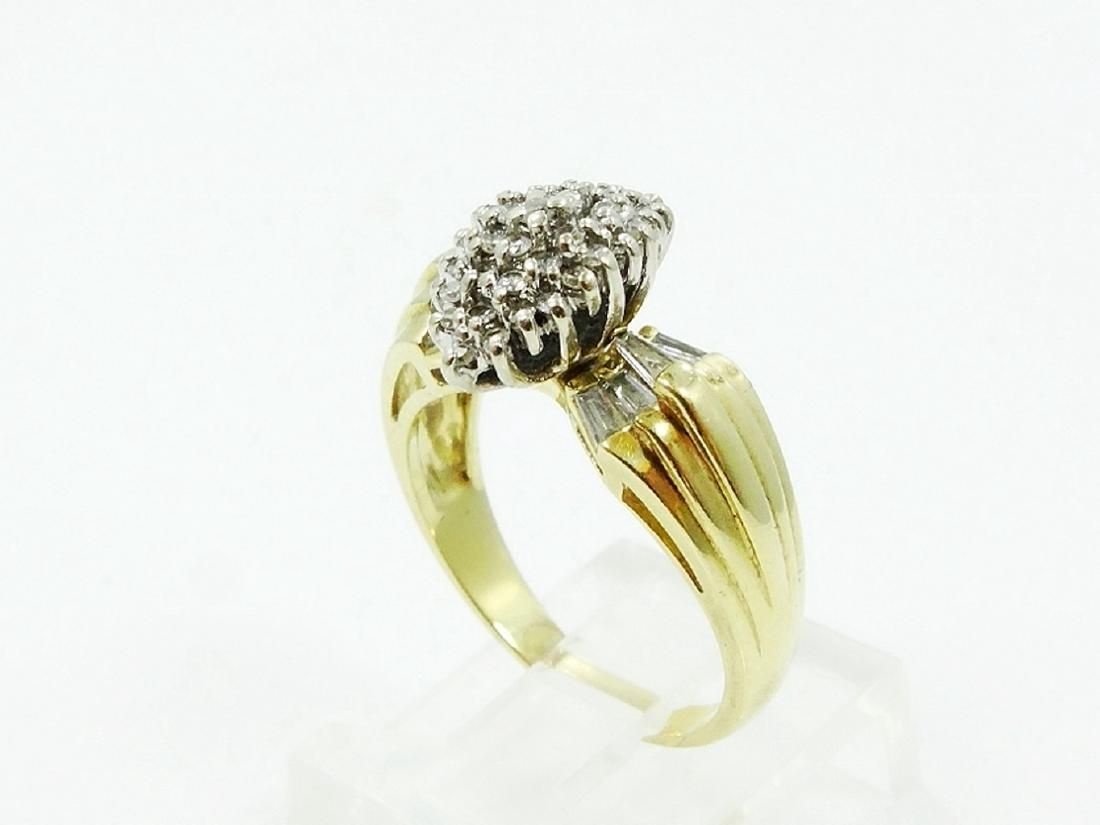 Designer 0.75ctw Diamond & 14K Estate Ring