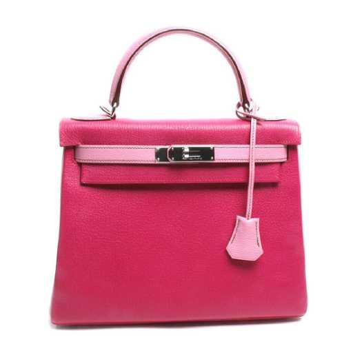 b270b67ede Hermes Horseshoe Fuchsia   Pink Chevre Kelly Bag. See Sold Price