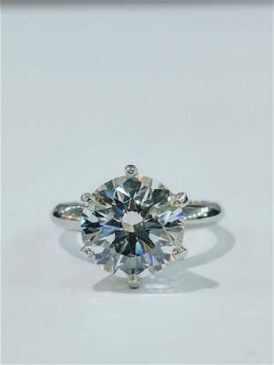 4.25ct VVS2/E GIA Diamond in Tiffany Plat. Band