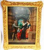 Anton Shevan 19th C. Oil on Canvas Portrait