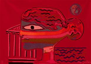 "Jean Cocteau ""The Greek"" Aubusson Tapestry"