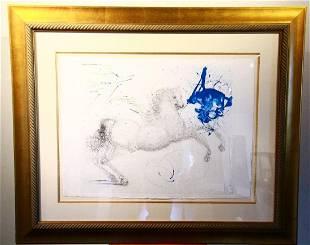 """Salvador Dali (Spanish, 1904-1989) """"Pegasus"""""""