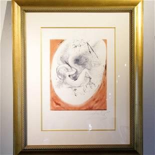 """Salvador Dali (1904-1989) """"Leda and Swan"""""""