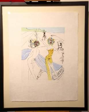 "Salvador Dali ""Flower Women at the Piano"""