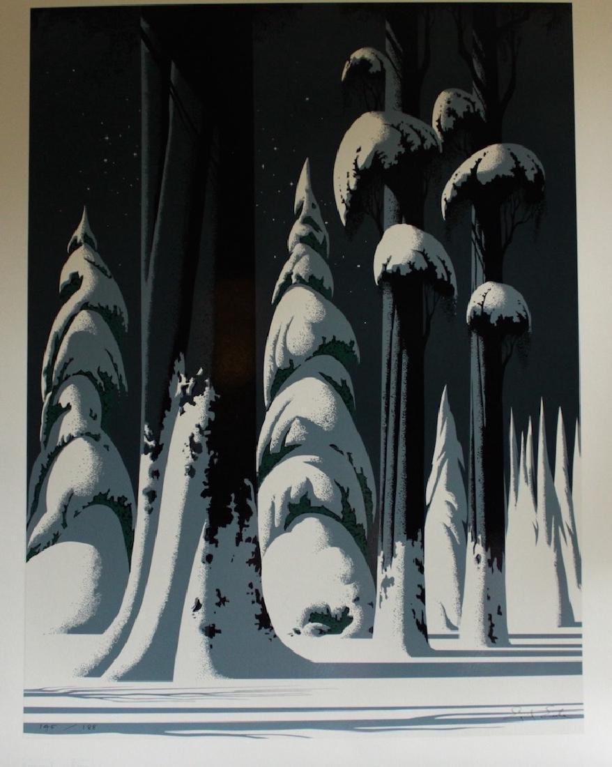 """Eyvind Earle (American; 1916-2000) """"Yosemite"""""""