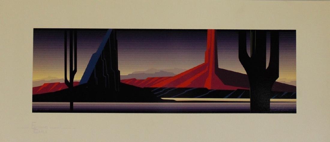 """Eyvind Earle (1916-2000) """"Beneath The Silent Sky"""""""