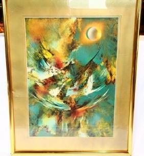 "Leonardo Nierman (mexican; 1932-) ""cosmic Energy"""