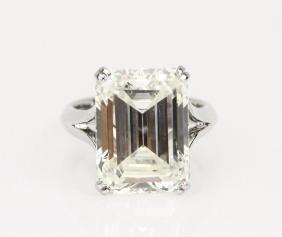 12.55ct Gia Vs1/l Diamond In Platinum Band