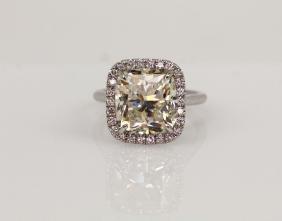 7.30ct Gia Vs2/k Diamond In Diamond & 18k Band