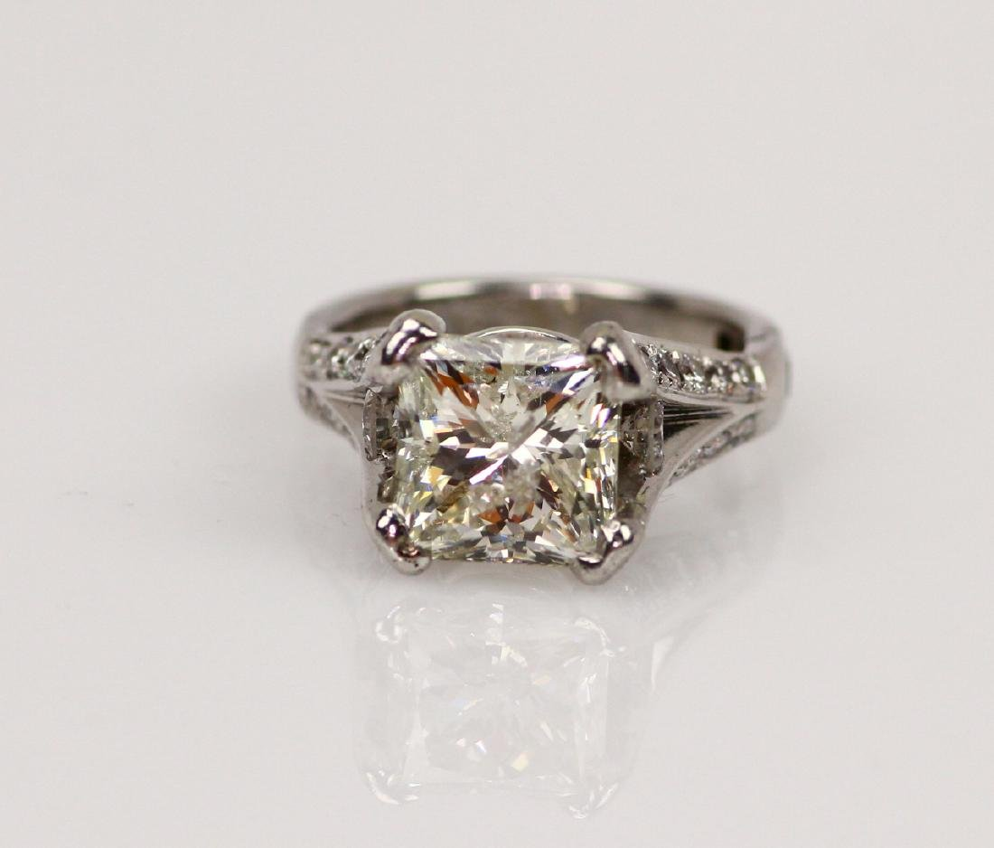 6.45ctw I1-I2/H-J Diamond Solitaire in 18K Band