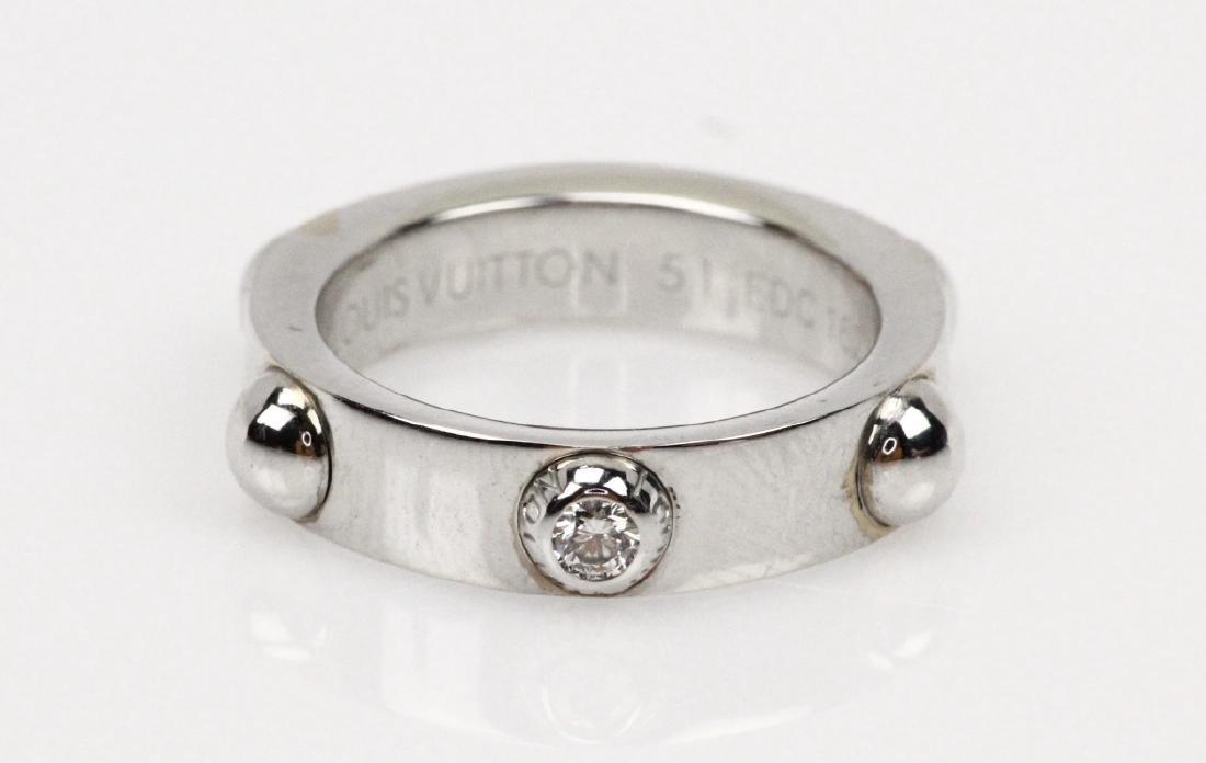 Louis Vuitton 18K & VS Diamond Bague Clous Ring