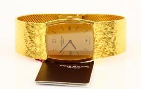 Patek Philippe Vintage 18k Watch W/mesh Band