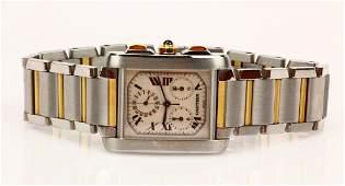 Cartier Tank Francaise Chronoflex 18k & SS Watch