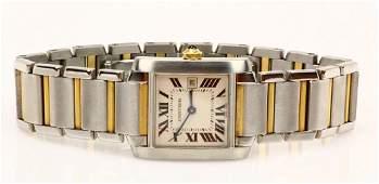 Cartier Tank Francaise 18K & SS Watch 2465