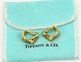 Tiffany & Co. Paloma Picasso 18k Diamond Earrings