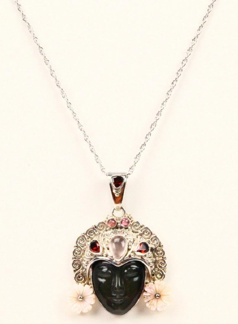 "Sajen Sterling Silver Pendant on 18"" Chain"
