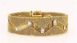 Art Deco 0.35ctw Diamond & 14K Watch Bracelet