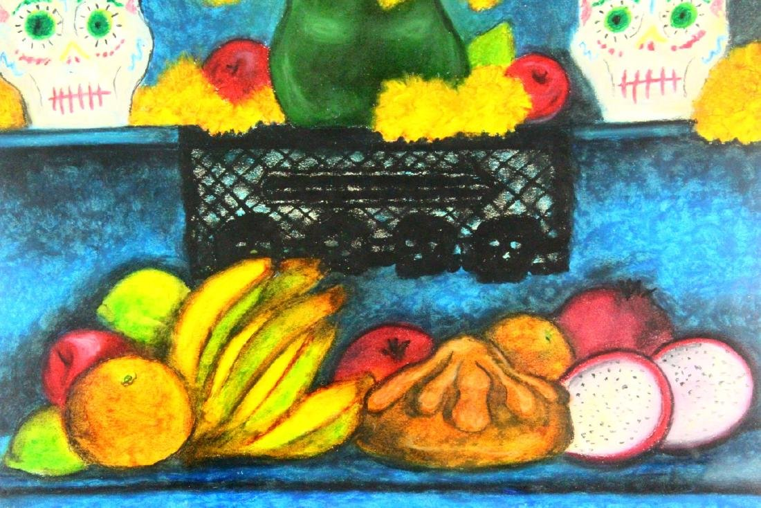 Frida Kahlo Original Oil Pastel on Paper W/COA - 4