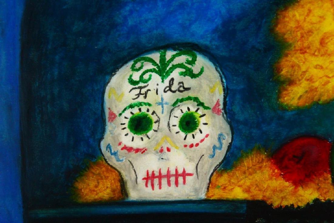 Frida Kahlo Original Oil Pastel on Paper W/COA - 5