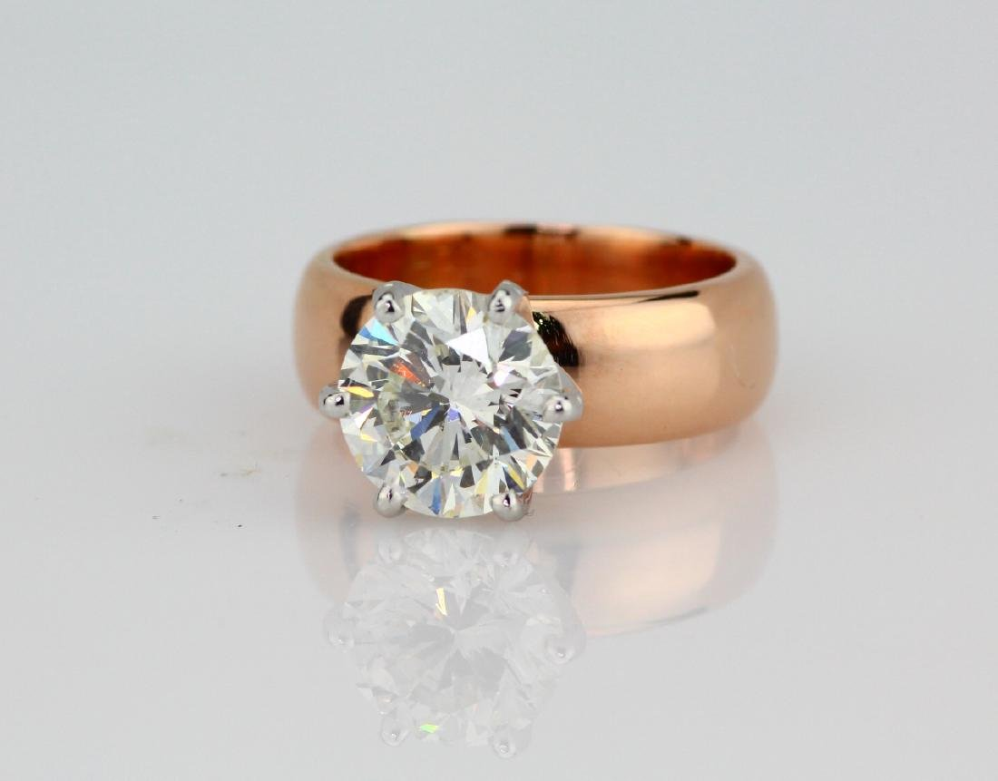 4.01ct SI1/H-I Diamond in 14K Rose Gold Setting