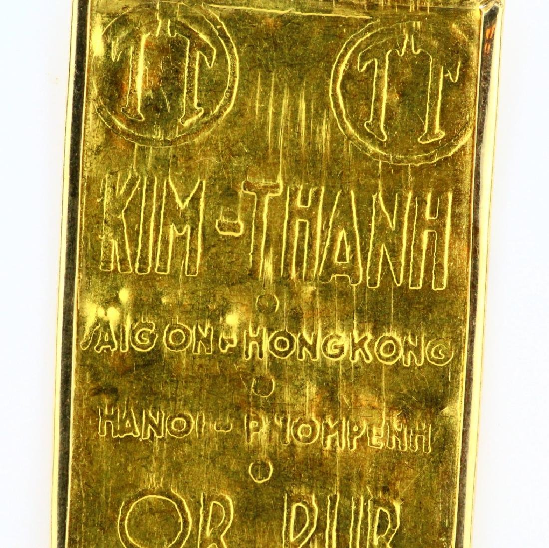 Kim-Thanh Vietnamese .9999 Gold Bar in 14K Frame - 2