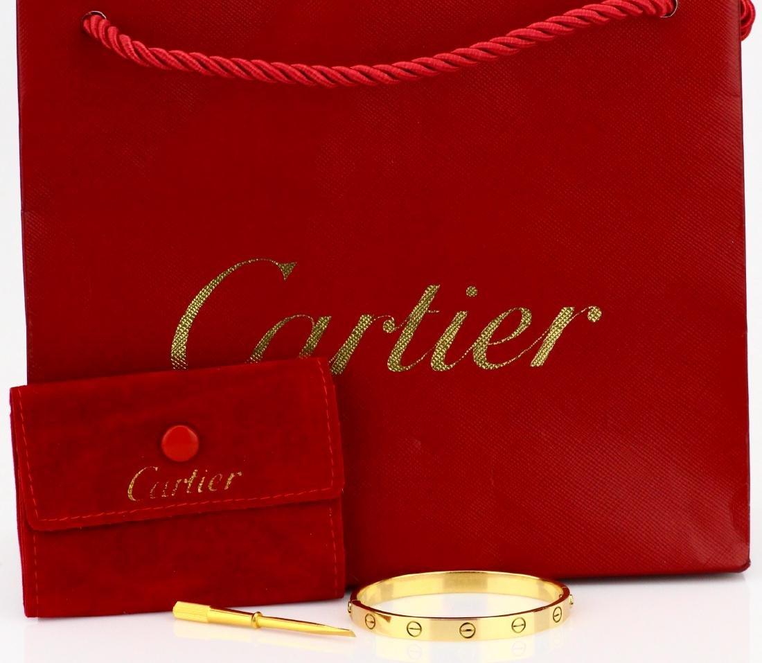 Cartier 18K Love Bracelet W/Screwdriver in Pouch